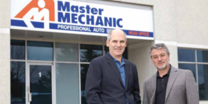Hugh and Jamie together in front of our master mechanic head office