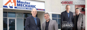 Hugh and Jamie featured on the front page of CarCare Business