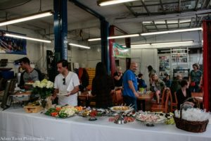 A view of the delicious buffet spread provided by Master Mechanic for their High Park pet photo competition