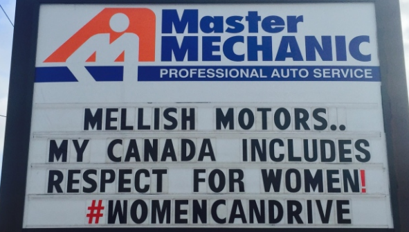 Master Mechanic shows support for women drivers