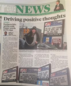 Positive News Article about Master Mechanic High Park