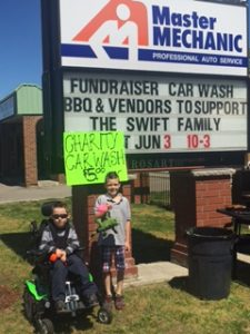 Shadamehr Swift Fundraiser at Master Mechanic Grimsby