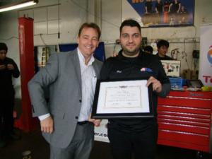 Master Mechanic Rui Silvestre and Allan Janssen.