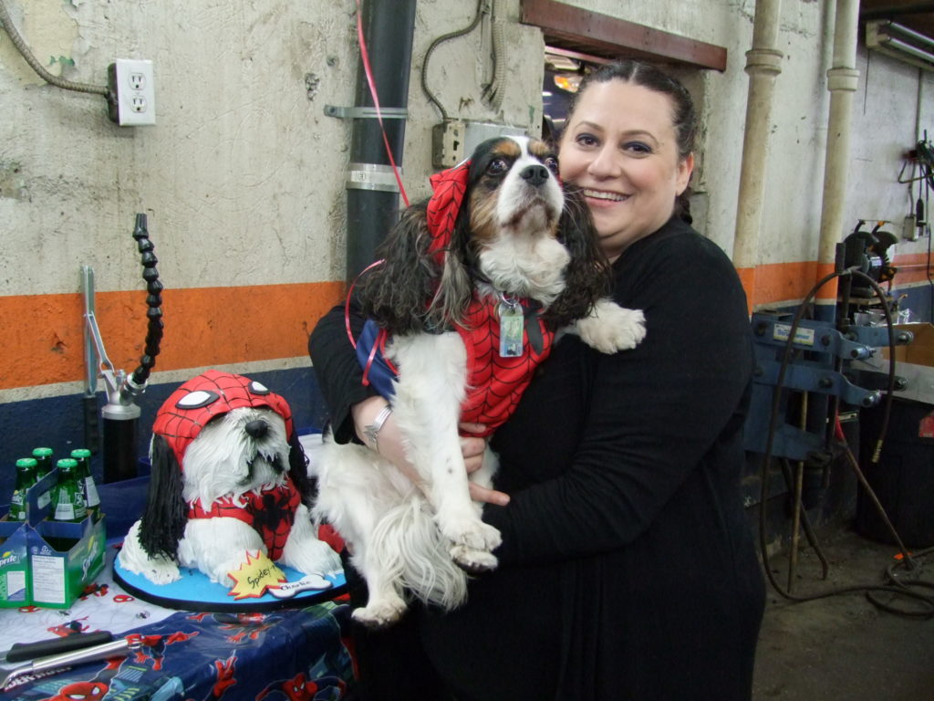 Josie Candito and Charlie at the Rescueversary