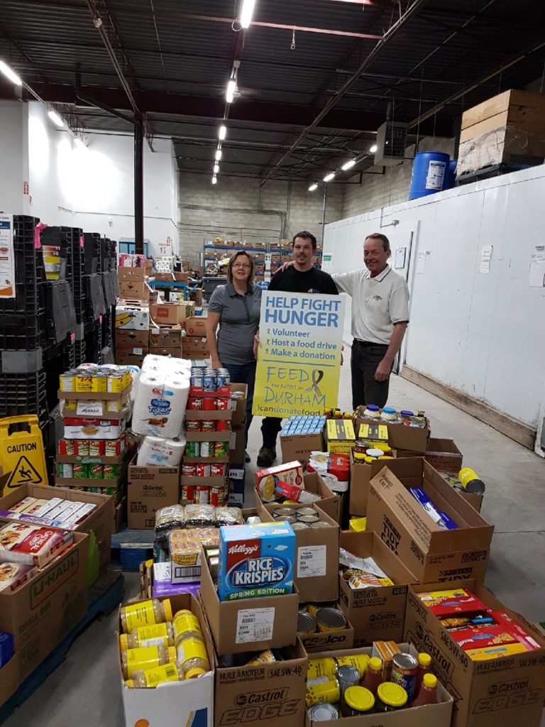 Master Mechanic Whitby collects food for Durham Feed the Need