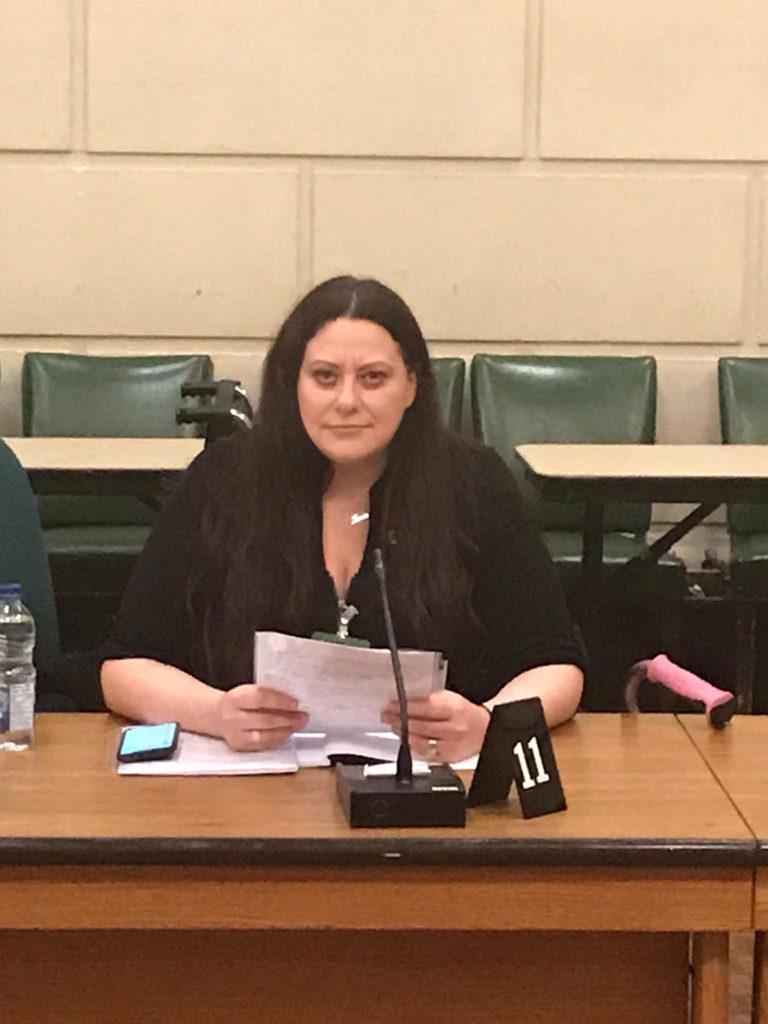Josie speaks to the Liberal Animal Welfare caucus in Ottawa