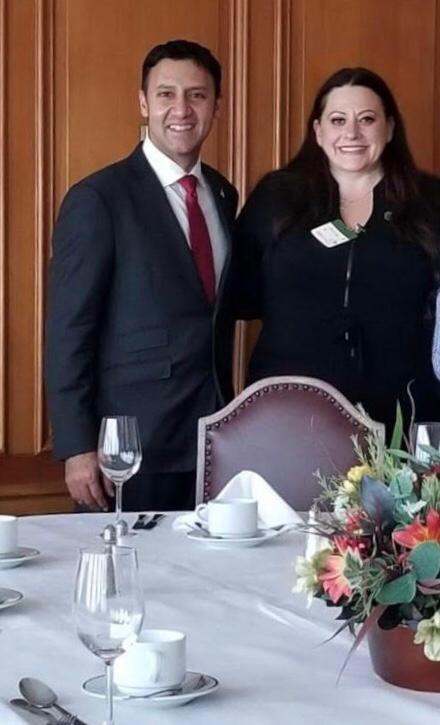 Josie Candito and Arif Virani
