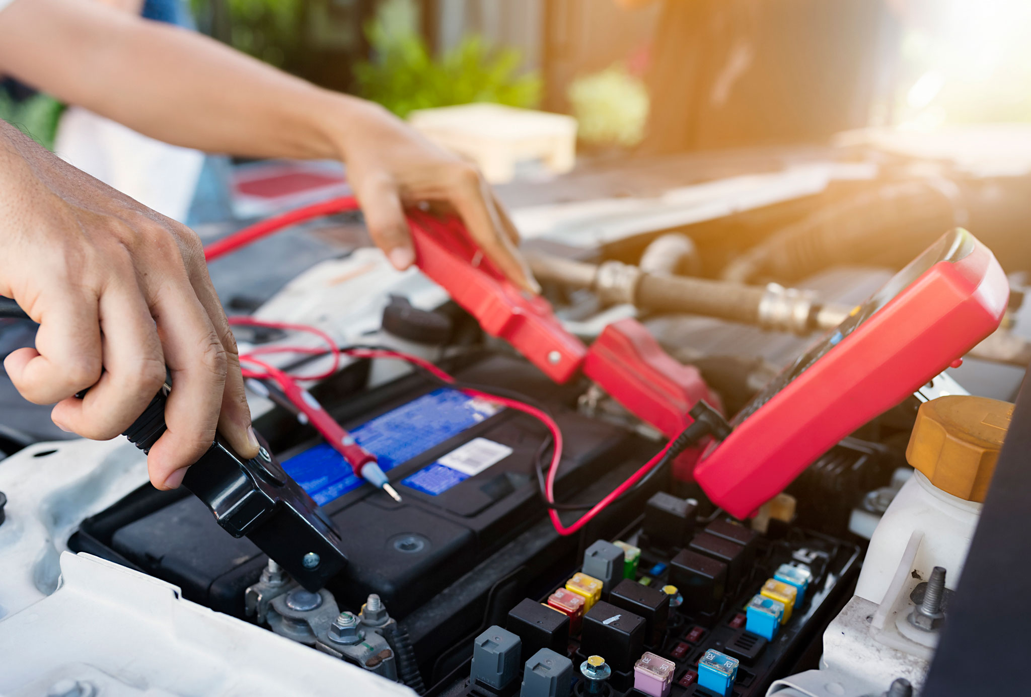 car battery replacement inspected