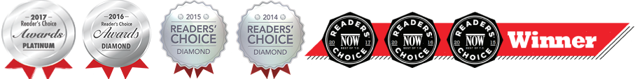 2014 and 2015 Diamond Reader Choice Winners