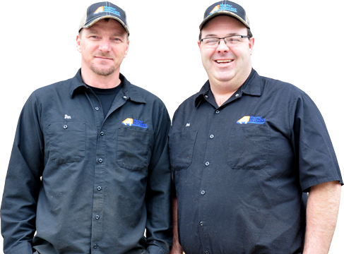 Master Mechanic Dan Crowder and Rob Coutts